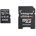 Carte mémoire micro SDXC Integral V30 64 Go