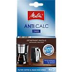 Tablettes détartrantes Melitta 105106 pour cafetières et bouilloires 4 Unités de 12 g