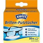 Lingettes nettoyantes pour lunettes Swirl Blanc 30 Unités