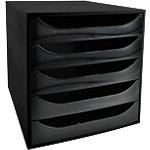 Module à tiroirs Office Depot Noir 5 tiroirs 28,4 x 34,8 x 29 cm