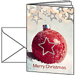 Carte de Noël Boule de Noël Sigel 220 g