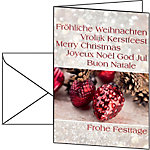 Carte de Noël Esprit de Noël Sigel DS 061 220 g
