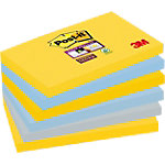 Notes Post it Super Sticky 76 x 127 mm Couleurs New York 6 Blocs de 90 Feuilles