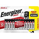 Piles Energizer Max AAA LR03 1,5V Alcaline 12 Unités