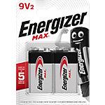 Piles Energizer Max 9V 6LR61 Alcaline 2 Unités