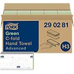 Essuie mains Tork H3 Advanced 2 épaisseurs Pliage en C Vert 20 Feuilles de 128 Feuilles