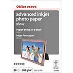 Papier photo jet d'encre Office Depot Brillant 280 g