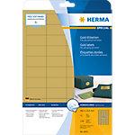 Étiquettes universelles HERMA A4 48.3x25.4 mm, dorées, film plastique brillant, 1100 pcs A4 48,3 x 25,4 mm 25 Feuilles de 44 Étiquettes