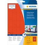 HERMA Étiquettes couleur A4 25.4x10 mm, rouges, papier mat, 3780 pcs 25,4 x 10 mm 20 Feuilles de 189 Étiquettes