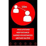 Paillasson 4 Langues Noir Rouge 900 x 1500 mm