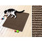 Tapis griffoir pour chat Casa Pura Sisal Tabac Brun 100 x 100 cm