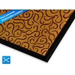 Tapis de sol FLOORDIREKT Brésil Polyamide, PVC Beige 600 x 900 mm