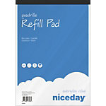 Recharge pour bloc notes Niceday Assortiment Quadrillé micro perforé A4+ 21 x 31,5 cm 60 g