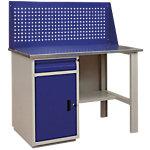 Atelier avec placard et tiroir Filex WB Pro 120 Bleu 1366 x 1200 x 700 mm