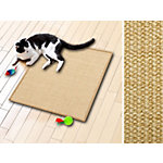 Tapis rayure Cat Casa pura Sisal nature 1000 x 1000 mm