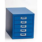 Caisson à tiroirs OCH 05 5 tiroirs Bleu 280 x 420 x 320 mm