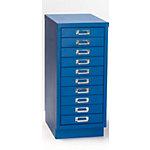 Caisson à tiroirs OCH 10 10 tiroirs Bleu 280 x 420 x 590 mm