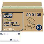 Essuie mains Tork H3 Universal 1 épaisseur Pliage en C Vert 20 Unités de 200 Feuilles