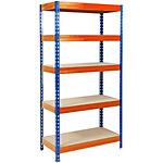 Étagère résistante office marshal Bleu et orange 1800 x 1200 x 450 mm