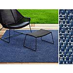 Tapis d'extérieur Casa Pura Pisa Bleu PET, vinyle 7000 x 600 mm