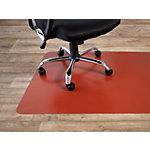 Tapis protège sol Floordirekt Pro pour sols durs Rouge PP 1500 x 1200 mm