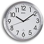 Maul Horloge murale MAULmove 30 x 3,5 cm Blanc, argenté