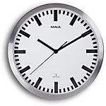 Maul Horloge murale MAULpilot 30,5 x 3,5 cm Blanc, argenté