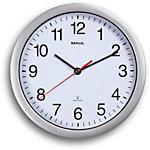 Maul Horloge murale MAULrun 25 cm Argent, blanc