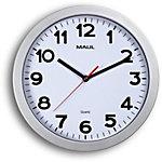 Maul Horloge quartz MAULstep 30 x 2,5 cm Argent, blanc