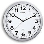 Maul Horloge murale MAULstep 35 x 3 cm Argent, blanc