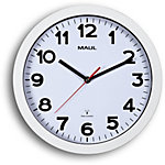 Maul Horloge murale MAULstep 30 x 2,5 cm Argent, blanc