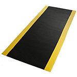Tapis de sol anti fatigue etm Dyna Protect Diamant Noir, jaune 900 x 3000 mm