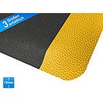 Tapis de sol anti fatique Heavy Duty Souple 2 couches Noir, jaune 60 x 90 cm