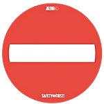 Autocollant de sol antidérapant 'Passage interdit' Jalema Surfaces rugueuses 35 cm Rouge, Blanc 2 Unités