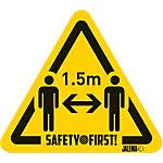 Autocollant Jalema 'Gardez vos distances' 17 x 15 cm Jaune, Noir 4 Unités