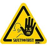Autocollant Jalema 'Stop   Gardez vos distances' 17 x 15 cm Jaune, Noir 4 Unités