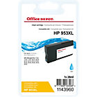 Cartouche jet d'encre Office Depot Compatible HP 953XL Cyan F6U16AE