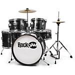 Kit de batterie RockJam 5 unités Junior Noir