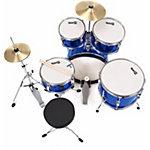 Kit de batterie RockJam 5 unités Junior Bleu