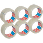 Ruban adhésif d'emballage tesapack Strong 50 mm x 66 m Transparent 6 Rouleaux