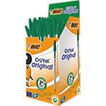 Stylo bille BIC Cristal® Vert Avec capuchon 50 Unités