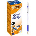 Stylo bille BIC Cristal® Grip Bleu 20 Unités