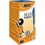 Stylo bille BIC M10 Clic 0.4 mm Bleu Rétractable 50 Unités