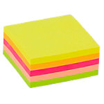 Cube de notes adhésives Office Depot 51 x 51 mm Assortiment néon 250 Feuilles