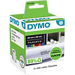 Rouleau d'étiquettes d'adresses DYMO 99012 89 x 36 mm Blanc 2 rouleaux de 260 étiquettes