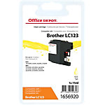 Cartouche jet d'encre Office Depot Compatible Brother LC123Y Jaune
