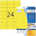 Étiquettes repositionnables HERMA Jaune 70 x 37 mm 20 Feuilles
