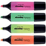 Surligneurs Niceday HC1 5 Biseauté Jaune, orange, rose, vert 4 Unités