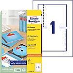 Étiquettes jaquette AVERY Zweckform A4 Blanc 151 x 118 mm 25 Feuilles de 1 Étiquettes