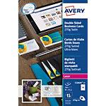Cartes de visite AVERY Zweckform C32026 25 Blanc Brillant 270 g